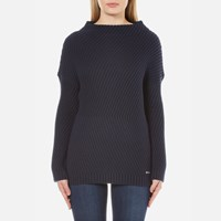 Barbour International Women's Eiko Knitted Jumper Navy Blue