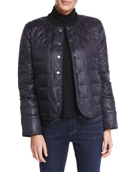 Eileen Fisher Reversible Puffer Snap Front Jacket