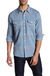 Lucky Brand Long Sleeve Regular Fit Utility Shirt Blue