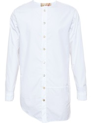 By Walid Collarless Shirt White