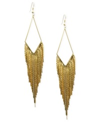 Guess Earrings Gold Tone Kite Gypsy Chain Drop Earrings