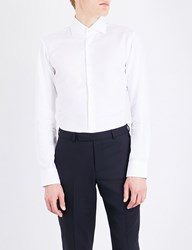 Boss Hopsack Weave Regular Fit Cotton Shirt White