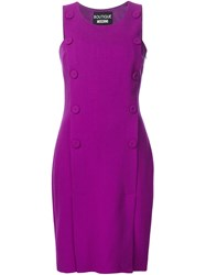 Boutique Moschino Button Detail Sleeveless Dress Pink And Purple