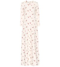 Co Embroidered Maxi Dress White