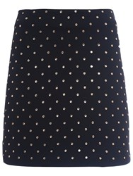 French Connection Diamond Drop Jersey Mini Skirt Black Diamante