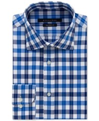Sean John Blueberry Plaid Dress Shirt
