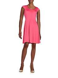 Karl Lagerfeld Cap Sleeve Fit And Flare Dress Cerise