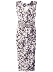 Saloni 'Gloria' Python Print Dress White