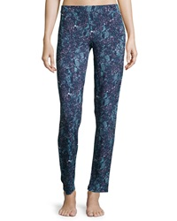 Cosabella Concorde Printed Slim Lounge Pants Blue Pattern