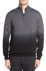 Bugatchi Men's Ombre Quarter Zip Sweater