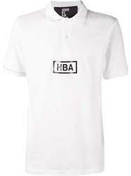 Hood By Air Logo Polo Shirt White