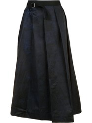 Y's Pleated Skirt Blue