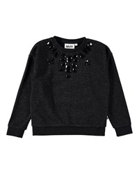 Molo Maila Speckled Bejeweled Sweatshirt Size 5 12 Black