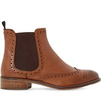 Dune Quentin Leather Chelsea Boots Tan Leather