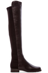 Stuart Weitzman 5050 Stretch Leather Boot Brown