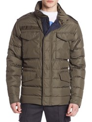 Moncler Quilted Long Sleeve Jacket Olive
