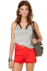 Nasty Gal After Party Vintage Rampage Short Red