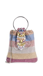 Gedebe Crystal Pouch Bag Multicolor