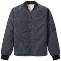 Universal Works Ma 1 Bomber Jacket Blue
