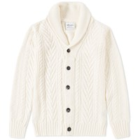 Albam Linen Cable Knit Cardigan Neutrals