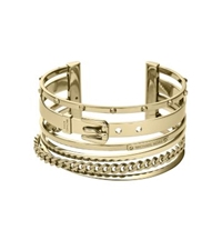 Michael Kors Frozen Bangle Gold Tone Cuff