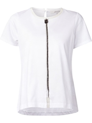 Schumacher Chain Trimmed T Shirt White