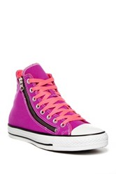 Converse Chuck Taylor Unisex Double Zip High Top Sneaker Purple