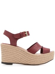 Tila March Tahoe Wedge Sandals Red