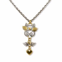 Sophie Harley London Kissing Seahorse Necklace Gold Silver