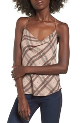Afrm Finn T Back Camisole Plaid With Heart