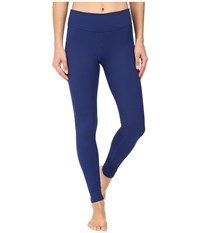 Beyond Yoga Deco Texture Long Leggings Black Cobalt Women's Casual Pants