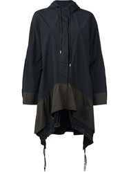 Paco Rabanne Oversized Hooded Coat Black