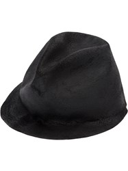 Horisaki Design And Handel Classic Hat Men Rabbit Fur Felt L Black