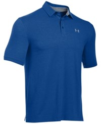 Under Armour Men's Charged Cotton Scramble Golf Polo Shirt Royal
