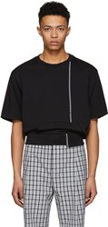 3.1 Phillip Lim Black Short Sleeve Re Constructed Sweatshirt