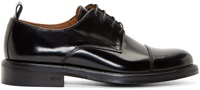 Ami Alexandre Mattiussi Black Polished Leather Derbys