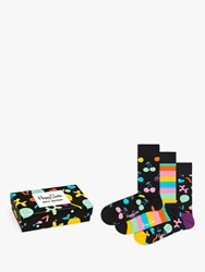 Happy Socks Birthday Gift Box Pack Of 3 One Size Black Multi