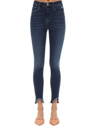 Frame Ali High Rise Skinny Stretch Denim Jeans Blue