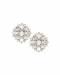 Lydell Nyc Crystal Flower Stud Earrings