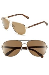 Men's Original Penguin 'The Davis' 61Mm Polarized Sunglasses Matte Gold Brown