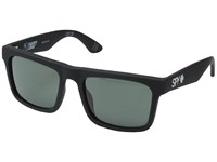 Spy Optic Atlas Soft Matte Black Happy Gray Green Athletic Performance Sport Sunglasses