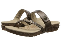 Aetrex Sandalista Lena Adjustable Thong Bronze Women's Sandals