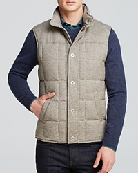 The Men's Store At Bloomingdale's Snap Front Puffer Vest Bloomingdale's Exclusive Heather Grey Pebble