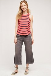 Pilcro Cropped Wide Leg Chinos Grey