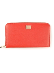 Dolce And Gabbana Continental Wallet Yellow And Orange