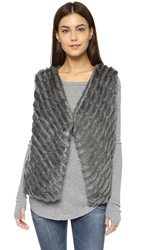 Bb Dakota Keith Faux Fur Vest Dark Grey