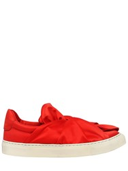 Ports 1961 20Mm Knot Satin Slip On Sneakers Red