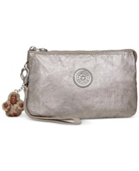 Kipling Creativity Extra Large Cosmetic Pouch Metallic Pewter Croc