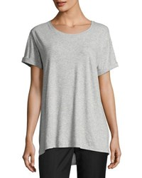 Vince Rolled Sleeve Jersey Tee Gray