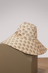 Gucci Stamps Hat Ivory Black